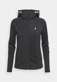 Peak Performance - RIDER ZIP HOOD - Fleece jacket - black - 4