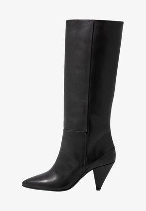 MYRASSA BOOT HIGH 7556 - Kozačky na vysokém podpatku - black