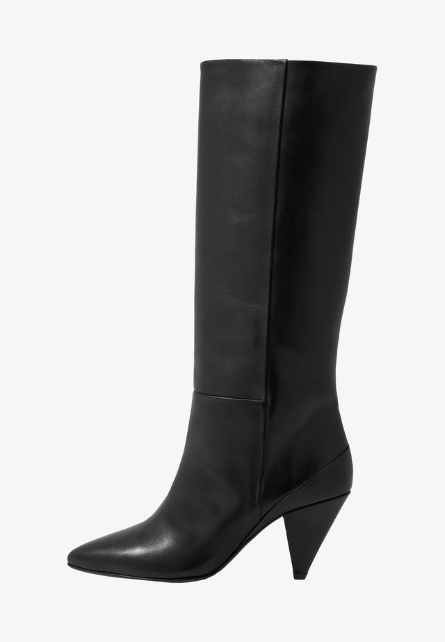 MYRASSA BOOT HIGH 7556 - Botas de tacón - black