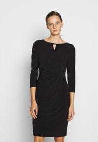 Lauren Ralph Lauren - MID WEIGHT DRESS TRIM - Shift dress - black - 0