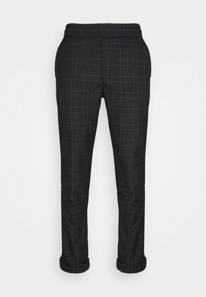 JIM PINSTRIPE CHECK - Trousers - navy