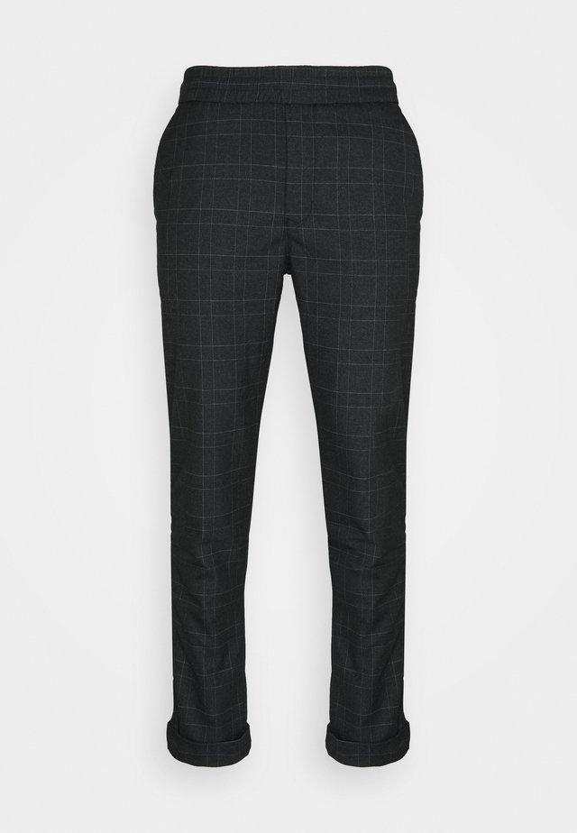 JIM PINSTRIPE CHECK - Trousers - navy