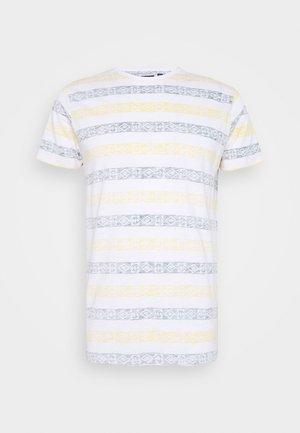 REEF - Print T-shirt - optic white/bottle green/yellow