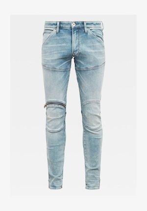 5620 3D ZIP KNEE SKINNY - Jeans Skinny - sun faded scanda blue