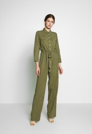 OBJJANA 3/4 - Jumpsuit - burnt olive