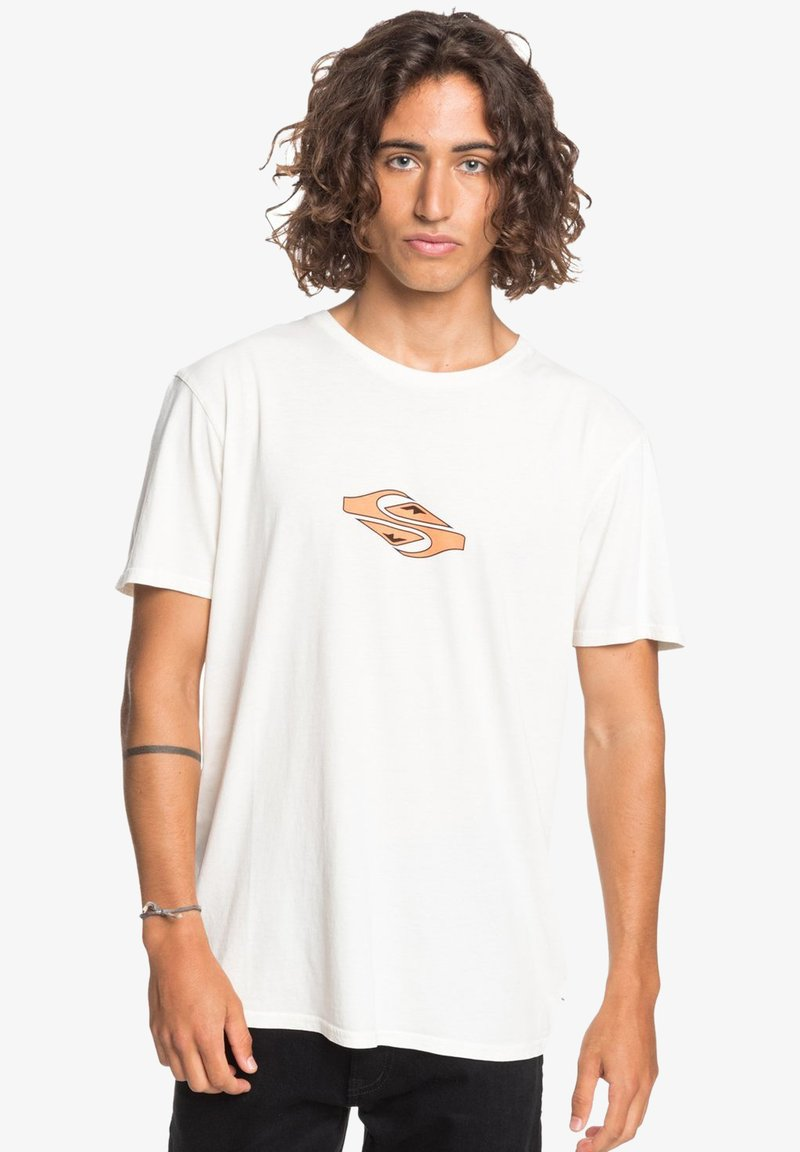 Quiksilver - EITHER WAY  - Print T-shirt - snow white