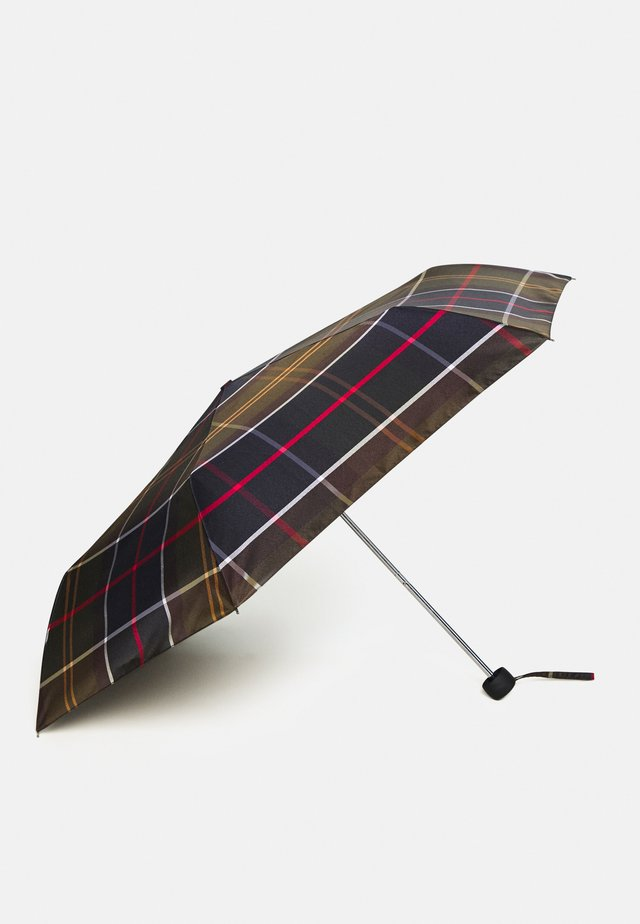 PORTREE UMBRELLA - Deštník - light brown/dark blue/olive