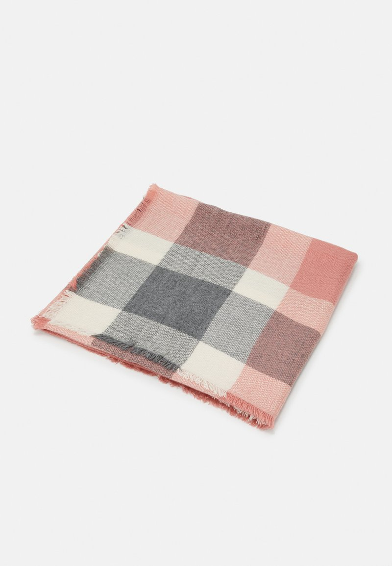 ONLY - ONLALDINI SQUARE SCARF  - Foulard - dusty rose/ecru
