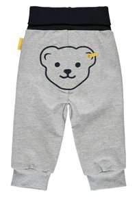 Steiff Collection - MIT GROSSEM TEDDYBÄRMOTIV - Tracksuit bottoms - soft grey melange - 1
