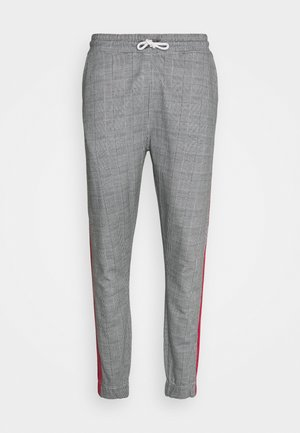 CHECK JOGGER - Pantalon de survêtement - grey