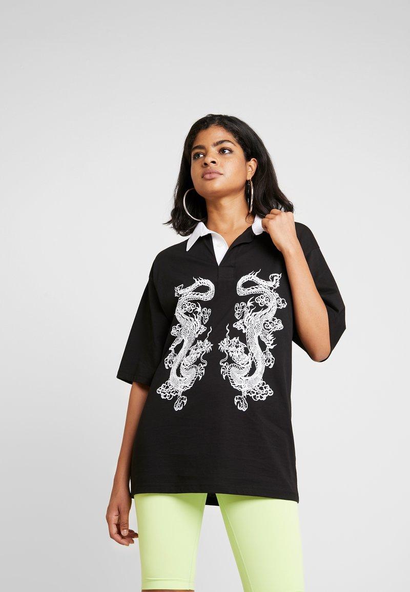 NEW girl ORDER - DRAGON - Žerzejové šaty - black