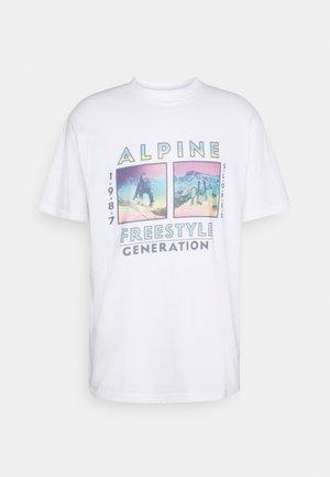FRONT GRAPHIC UNISEX - Print T-shirt - white