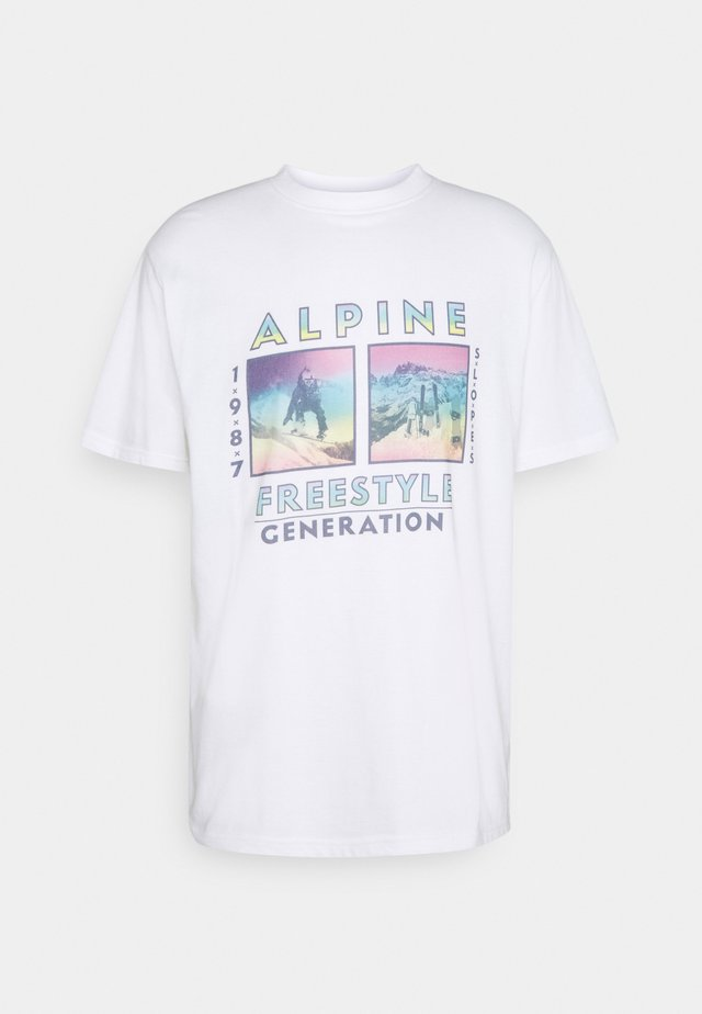 FRONT GRAPHIC UNISEX - Print T-shirt - white