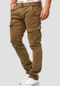 INDICODE JEANS - RAYANE - Cargo trousers - brown - 3