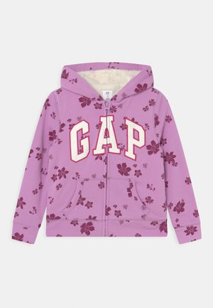 GIRL LOGO COZY - Mikina na zip - purple