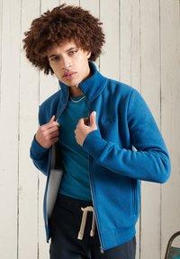 Superdry - Sweater met rits - dark cobalt marl - 1