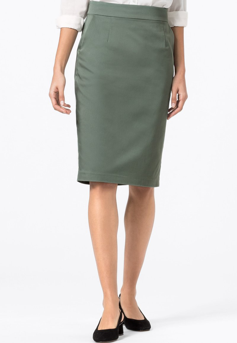HALLHUBER - BASIC LETIZIA - Pencil skirt - seegrün