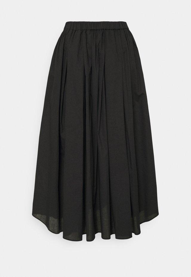 GAUVIN - Áčková sukně - black