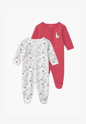 NBFNIGHTSUIT ALPACA 2 PACK - Sleep suit - claret red