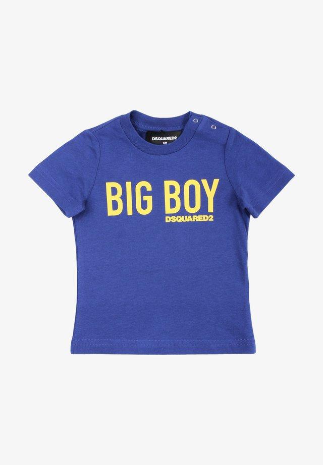 T-shirt print - blu