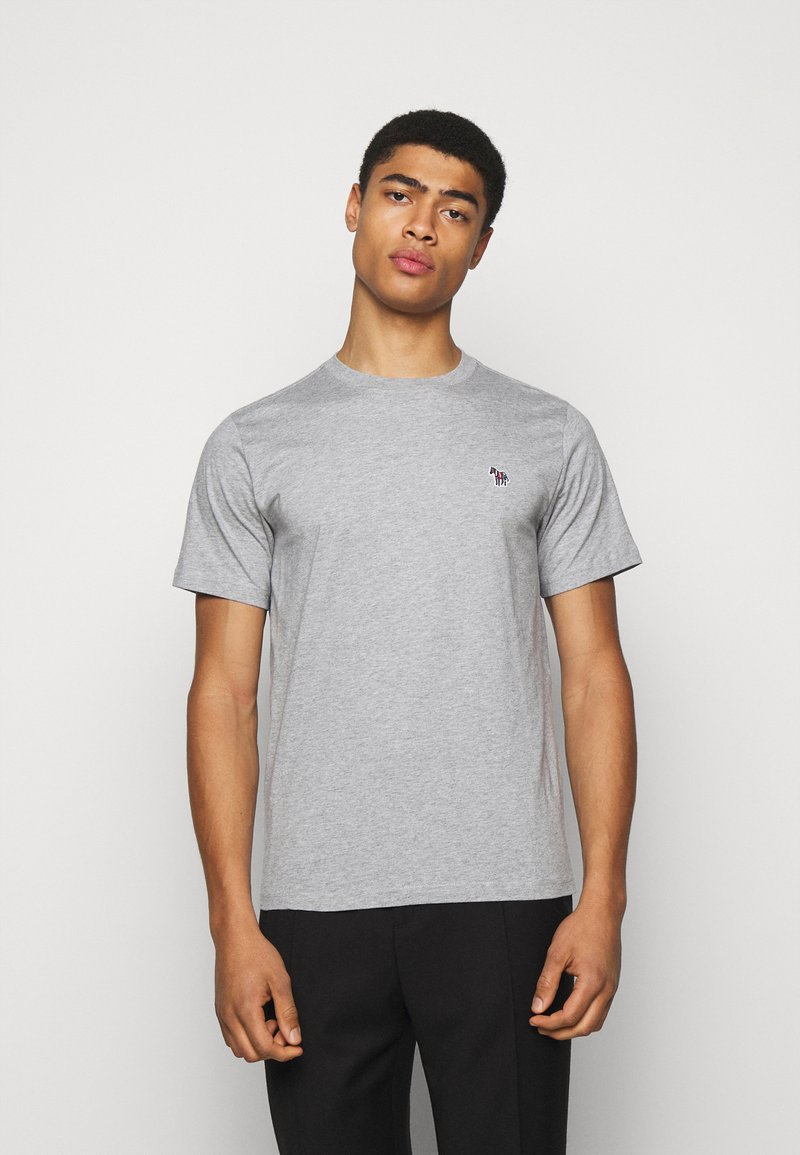PS Paul Smith - MENS REG FIT ZEBRA - Basic T-shirt - grey