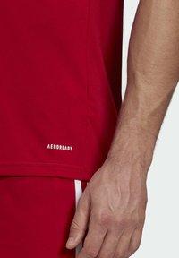 adidas Performance - SQUAD 21 - T-shirts print - team power red/white - 4
