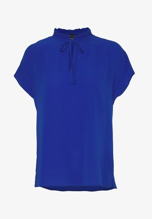 SHORT SLEEVE PIE CRUST TEE - Blouse - cobalt