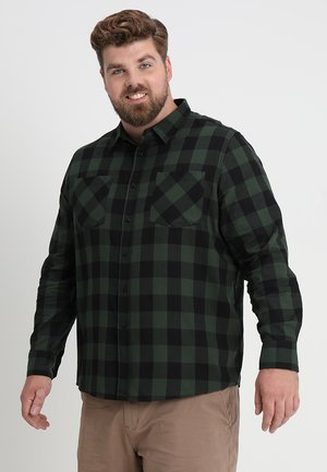 CHECKED - Camicia - black/forest