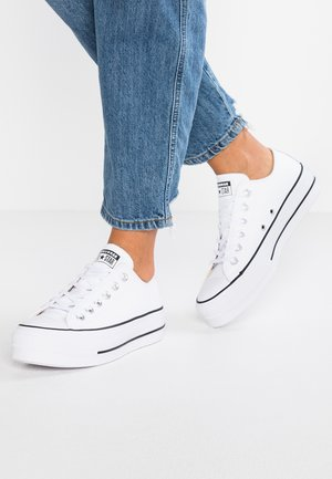 CHUCK TAYLOR ALL STAR LIFT CLEAN - Baskets basses - white/black