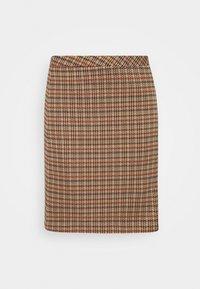 SKIRT SHORT - Mini skirt - soft caramel