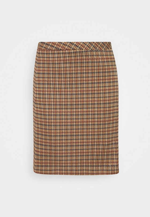 SKIRT SHORT - Minisukně - soft caramel