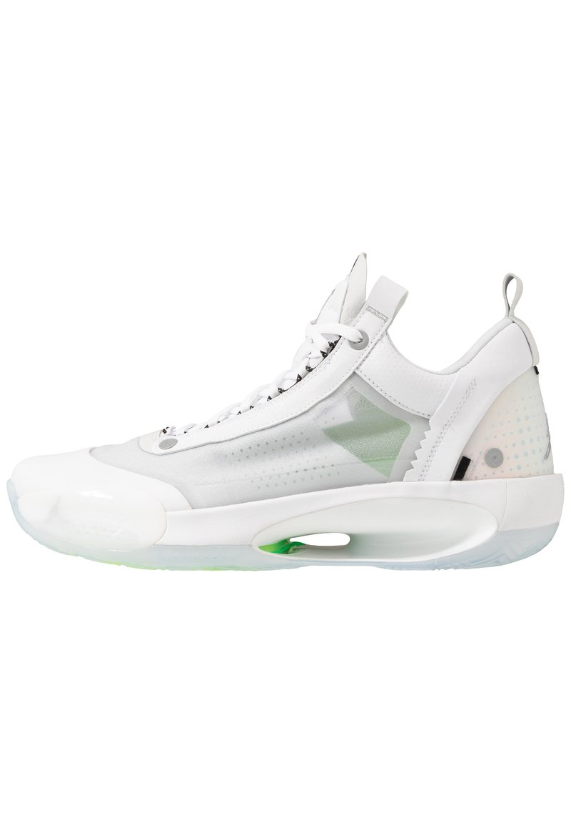Jordan - AIR XXXIV LOW - Koripallokengät - white/metallic silver/pure platinum/electric green
