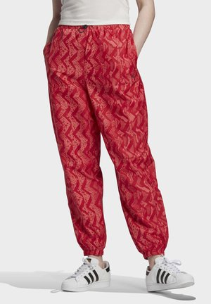ALLOVER PRINT TRACKSUIT BOTTOMS - Tracksuit bottoms - red