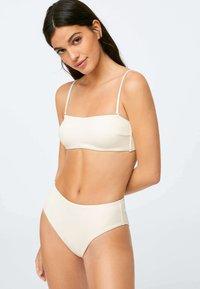 OYSHO - RIBBED - Bikini top - white - 0