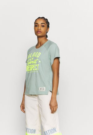 ROCK  - T-shirt con stampa - fisher green