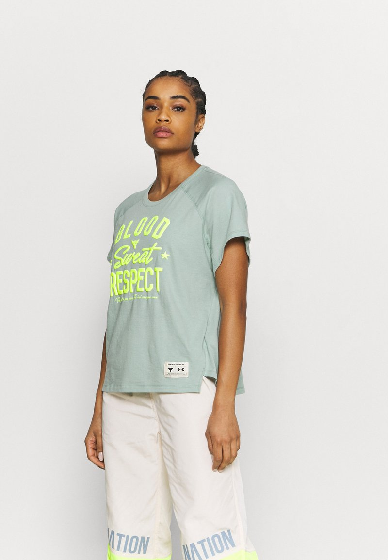 Under Armour - ROCK  - T-Shirt print - fisher green