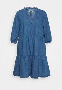 New Look Curves - TIER MIDAXI - Denim dress - blue denim - 0