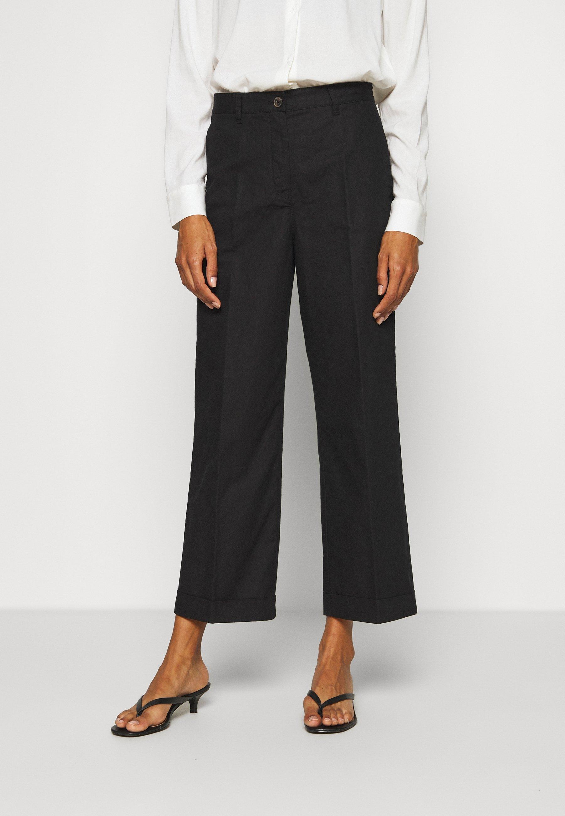 100% Original Women's Clothing Marc O'Polo Trousers black CCr0xVAMk