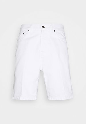 NEWEL PARKLAND - Shorts di jeans - white worn washed