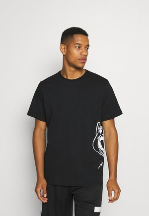 CAT JAWS TEE - Print T-shirt - puma black