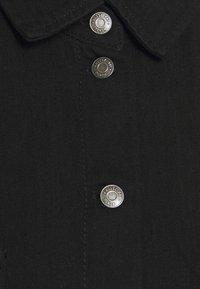 Noisy May - NMFLANNY LONG SHACKET - Button-down blouse - black denim - 2