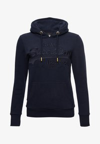 Superdry - VINTAGE LOGO TONAL EMBROIDERED - Sweat à capuche - nautical navy - 1