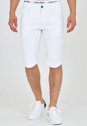 LEON - Short en jean - offwhite