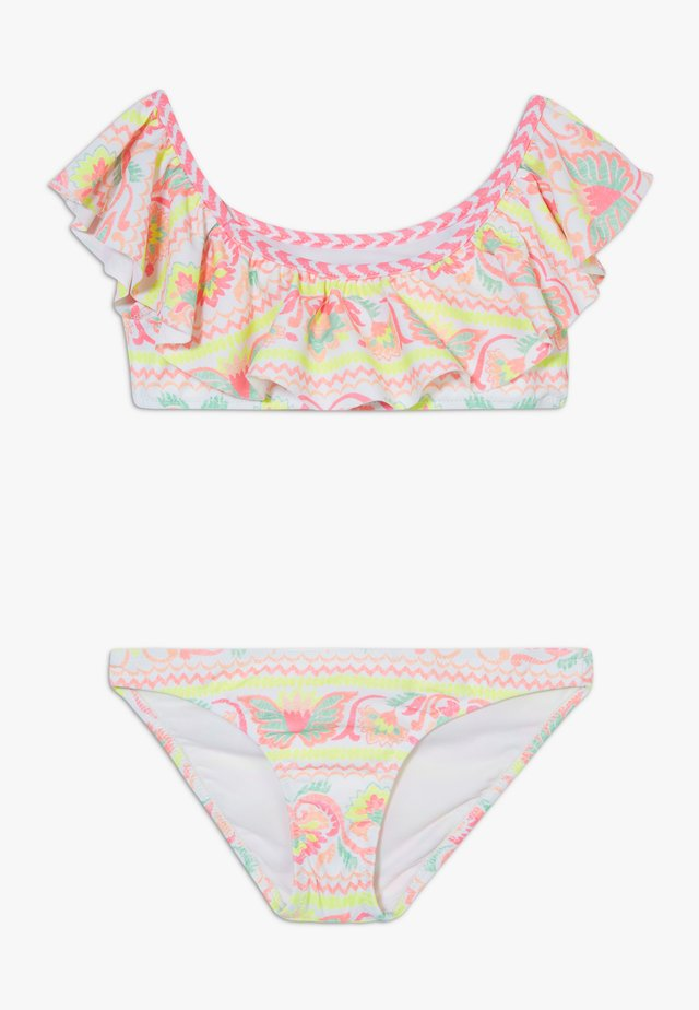 GIRLS PERUVIAN STITCH OFF SHOULDER SET - Bikini - white