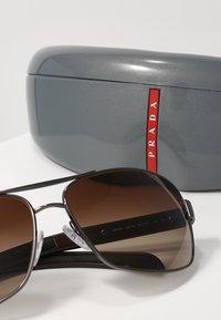 Prada Linea Rossa - LIFESTYLE - Sunglasses - gunmetal/brown - 3