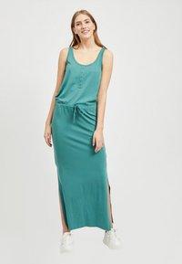 Object - OBJSTEPHANIE MAXI DRESS  - Maxi dress - blue spruce - 1