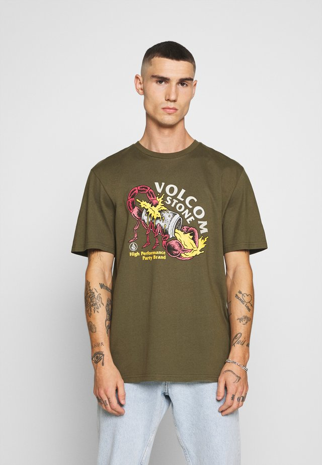 SCORPS - T-shirt con stampa - military