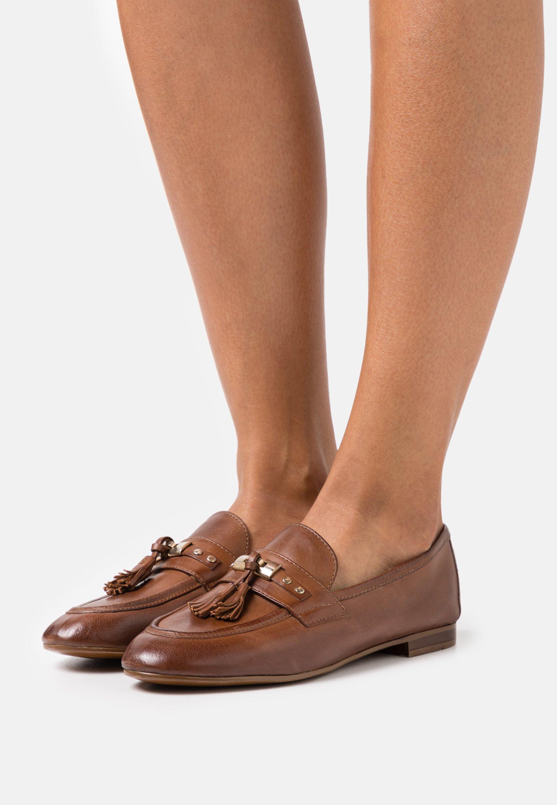 Women LEATHER - Slip-ons - brown