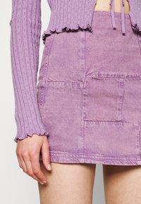 BDG Urban Outfitters - PATCHWORK PELMET SKIRT - Minirok - lilac - 5