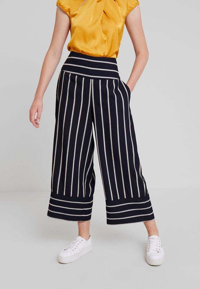 PERSI CULOTTE - Spodnie materiałowe - navy